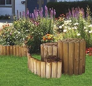Palisaden Beetumrandung Holz