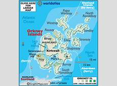 Orkney Islands Map Geography of Orkney Islands Map of