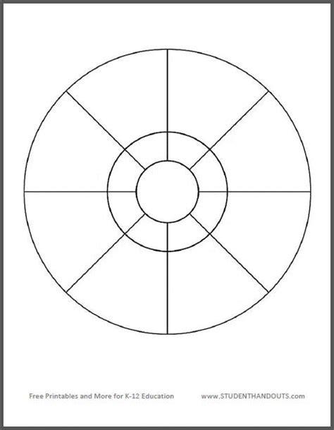 free graphic organizer templates circular 8 compartment graphic organizer student handouts