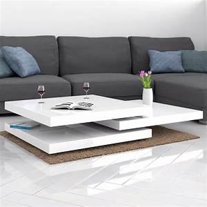 Deuba couchtisch hochglanz wei wohnzimmertisch for Tisch sofa