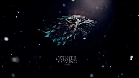 game  thrones winter  coming snowfall wallpaper