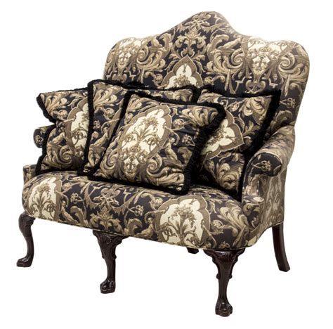 high back settee upholstered century furniture upholstered high back settee