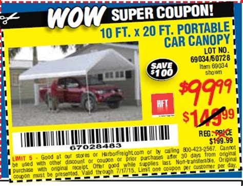 harbor freight 10 x 20 canopy harbor freight tools database free coupons 25
