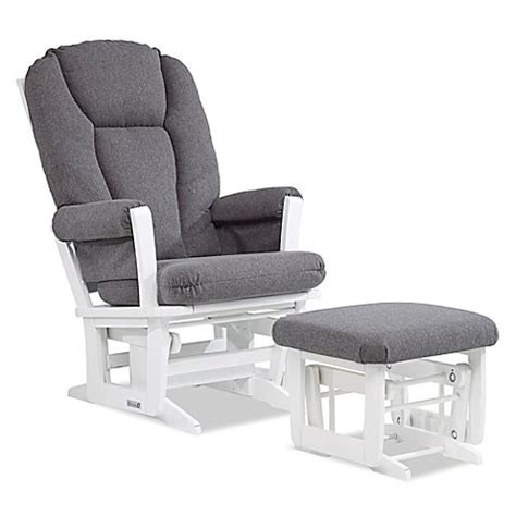 replacement cushions for glider rocker and ottoman dutailier 174 modern glider and ottoman in white charcoal