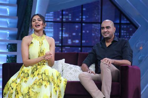 Rakul Preet Singh and Director Krish from the sets of SamJam