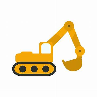 Excavator Icon Vector Construction Icons Machinery Clipart