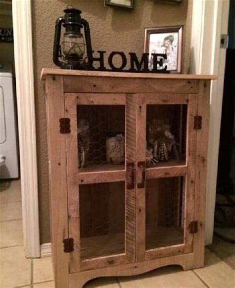 Kitchen Cabinet Doors From Pallets by Diy Wood Pallet Cabinet Ideas Pallets Designs