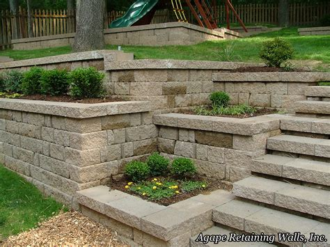 landscape walls agape retaining walls inc terrace photo album 3