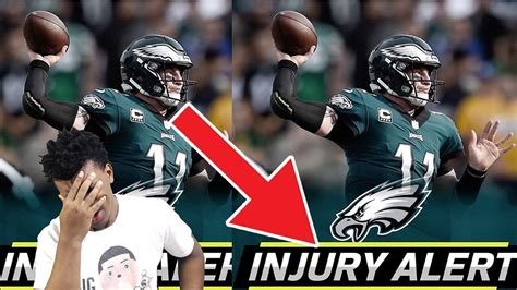 carson wentz knee injury    torn acl eagles