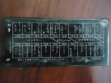 nissan vanette questions can anyone give me a layout diagram for fuse box of a c22 nissan