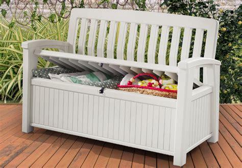 banc en resine chalet jardin boutique coffre banc en rsine blanc 227l