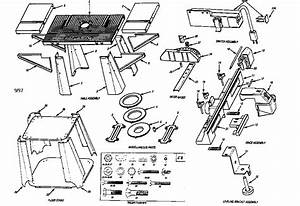Sears Craftsman Industrial Router Table Parts