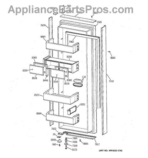 parts  ge zisnca fresh food door parts appliancepartsproscom