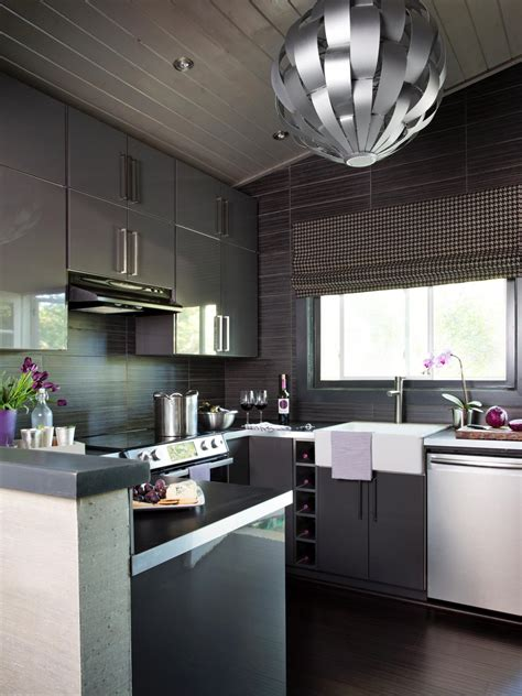 Modern Home Design Ideas Gray by Small Modern Kitchen Design Ideas Hgtv Pictures Tips Hgtv