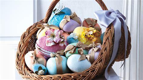 Glittered Floral Egg Basket   Martha Stewart