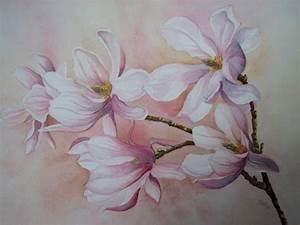 Blumen Bilder Gemalt : magnolien von kerstin birk pflanzen blumen landschaft fr hling malerei ~ Orissabook.com Haus und Dekorationen