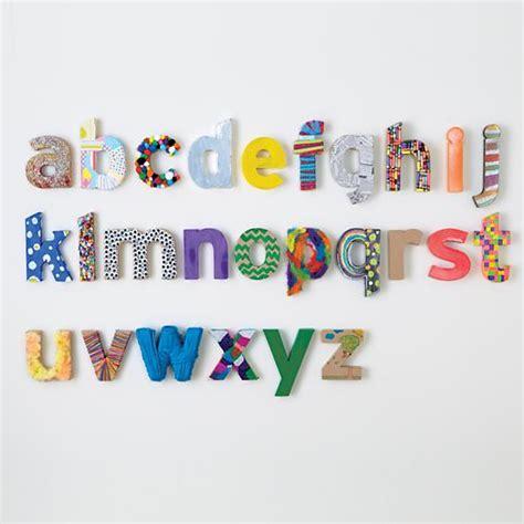 kraft paper letters design improvised