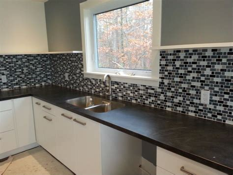 kitchen tiles design  varying mosaic subway