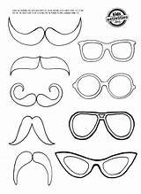 Coloring Moustache Glasses Mustache Eye Glass Printable Template Mirror Templates Crafts Eyes Pages Bunny Colouring Clings Paper Felt Drawing Patterns sketch template