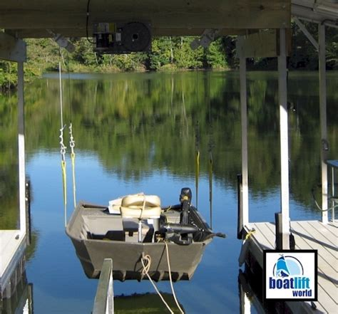 Jon Boat Lift by 3000 Lb Sling Boat Lift Boat Lift World