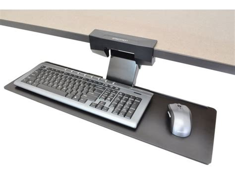 computer keyboard holder under desk neoflex under desk keyboard tray wft 009 computer tables