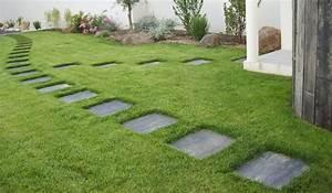 dalles en ardoise pour jardin idees de design d39interieur With allee de jardin originale 6 le pas japonais pour circuler dans son jardin mon