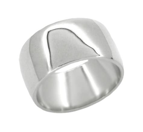 womens mm wide wedding band   white gold