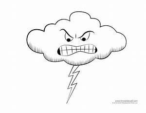 Free coloring pages of cloudy weather