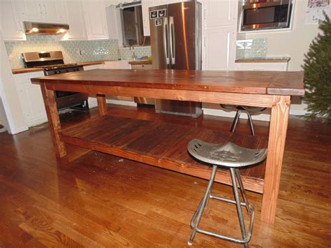 kitchen islands wood crafted reclaimed wood farmhouse kitchen island by