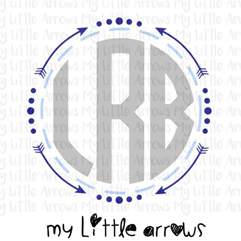 boy arrow monogram frame svg dxf eps png files  cutting