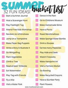 Summer Bucket List Ideas for Kids and Adults - Must Have Mom