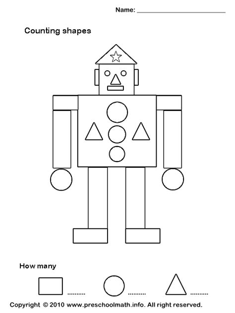 images  plane shapes worksheets  kindergarten