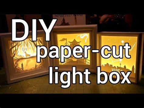 paper cut light box diy youtube
