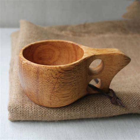 2pcs X 200ml676 Oz Double Holes Wood Handmade Cup Mug