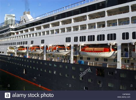 Port Side View Of The Cruise Ship Statendam With Its Many ...