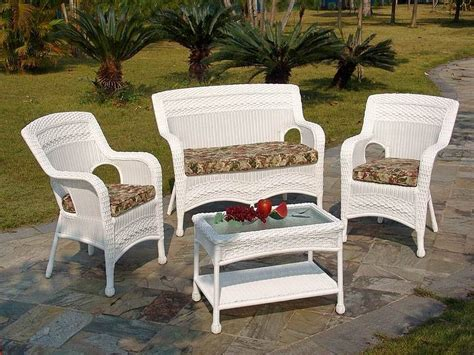 Wicker Patio Sets At Walmart by Outdoor Patio Furniture Wicker White Wicker Patio