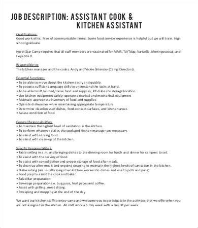 Kitchen Manager Work Description by 17 Line Cook Description Templates Pdf Doc Free