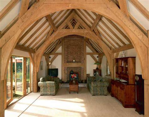 internal oak beams timber frame building timber house timber framing