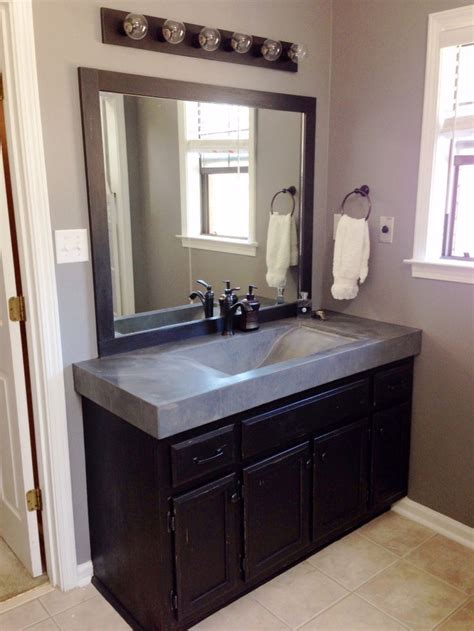 bathroom countertops with sinks built in 20 best images about concrete countertops on