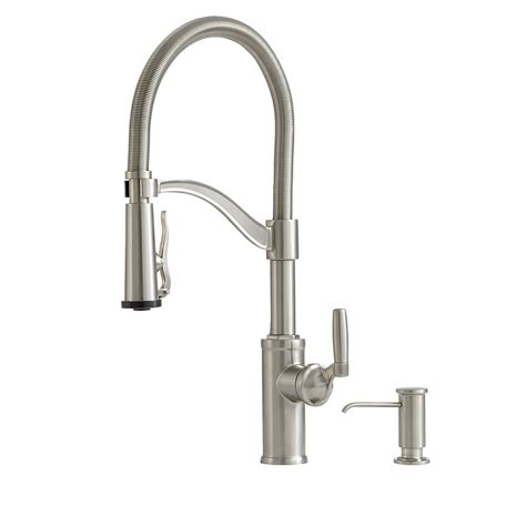stainless steel faucet kitchen shop giagni pompa stainless steel 1 handle deck mount pre