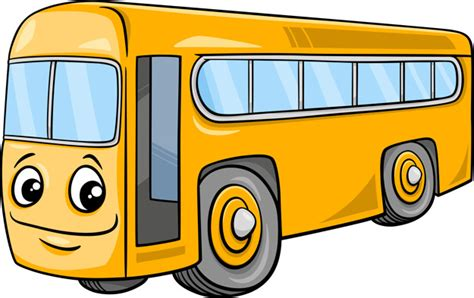 bus character cartoon illustration vector premium