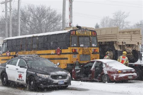 accident logan lane waterloo hits wcfcourier southbound involving putney tracks matthew ave bus train near