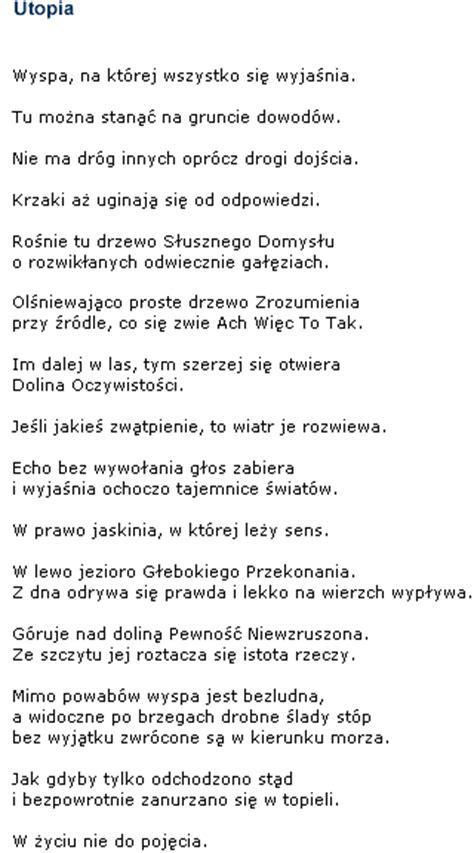 wislawa szymborska poetry utopia