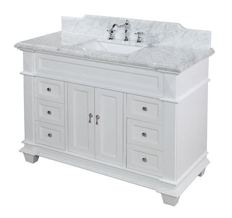 white bathroom vanity  detailed review