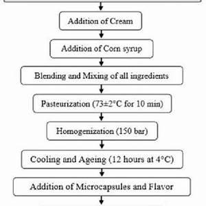 Schematic Process Flow Diagram Of Ice Cream Preparation
