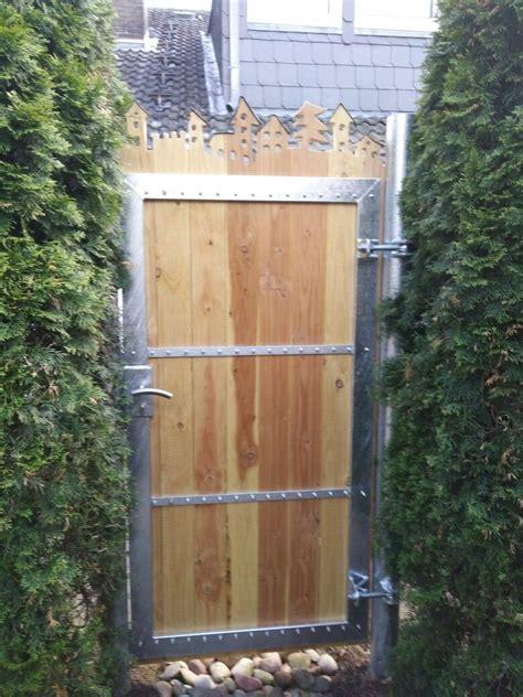 Gartentor Sichtschutz Holz by Gartentor Gartenpforte Verzinkt Holz Dekorativ Metall
