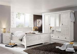 Schlafzimmer Komplett Weiß : schlafzimmer set 4teilig kiefer massiv wei lasiert ~ Orissabook.com Haus und Dekorationen