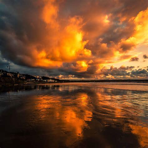 imagen gratis reflexion agua atardecer puesta de sol