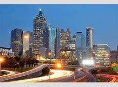 Atlanta Downtown Das südliche Ende des Finanzdistrikts