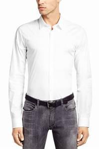 Chemise Homme Slim Fit : chemise slim fit homme unie ~ Nature-et-papiers.com Idées de Décoration